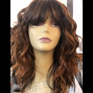 Cheap copper Brand an wavy cheap wig 2020